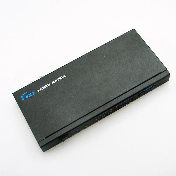 【上海問屋限定販売】3D出力にも対応 ワンタッチ切り替えで4つの機器を2台のモニタに表示可能 マトリクス型HDMIセレクター(切換器) 販売開始
