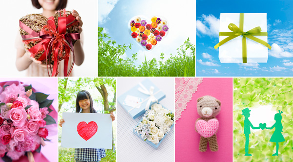感謝の気持ちやお祝い、人を思う心や贈り物のイメージを200点収録した写真素材集、新発売!