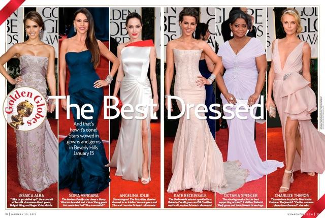 タダシ ショージのドレスでオクタヴィア・スペンサーが アンジェリーナ・ジョリー、シャーリーズ・セロンとともに ベストドレッサー賞を獲得!