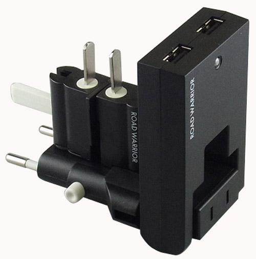 全世界対応!海外どこでも気軽に充電 小型・軽量スイングUSBと電源変換アダプターのセット 「ゴーコンUSB」 発売開始!