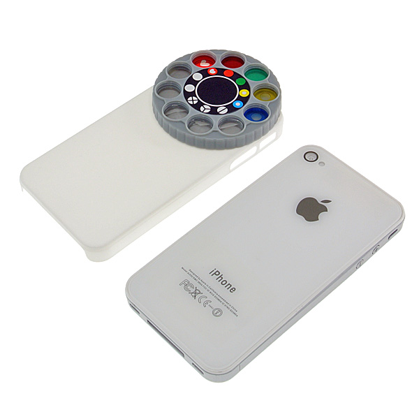 【上海問屋限定販売】 iPhone4 4Sに装着するだけでオモシロ写真が撮れる レンズフィルターつきケース 販売開始