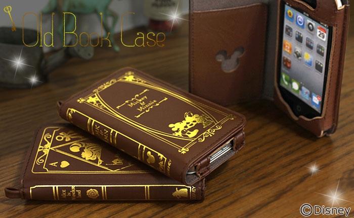 古書店でお気に入りの本を見つけたような出会いをiPhoneでも…大人気のディズニーキャラクターを形どった、アンティーク風本革iPhoneケース