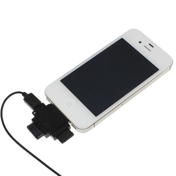 【上海問屋限定販売】iPhone・スマホ・携帯電話 一本のケーブルであらゆる機器に対応するAC充電器 マルチ変換コネクタ付属 AC充電器 販売開始