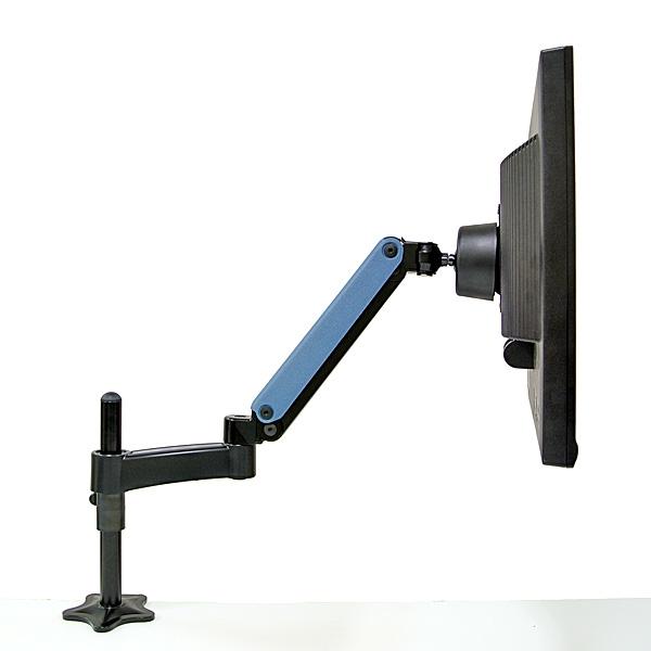 【上海問屋限定販売】机の上をスタイリッシュに有効活用 スプリング式カラフルモニターアーム5色 販売開始