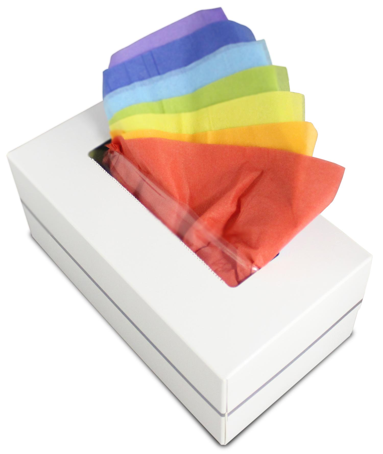 七色のティシューが取り出せる 「七宝(しっぽう)ティシュー」 2012年10月1日(月)より インターネット発売