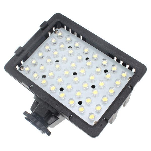 【上海問屋限定販売】 常時点灯で夜間の動画撮影にも大活躍 一眼・ビデオカメラ用LEDライト48灯 販売開始