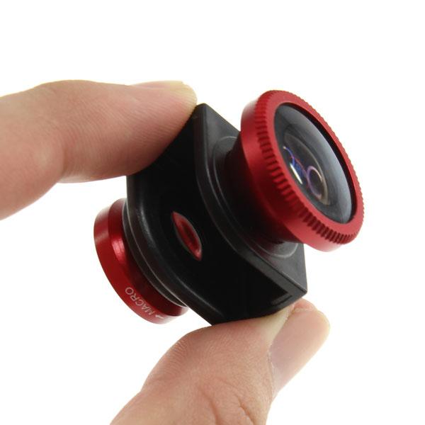 【上海問屋限定販売】 iPhone5/4S/4で面白い写真を撮ろう取り付け簡単 魚眼・ワイド・マクロ3in1カメラレンズキット 販売開始