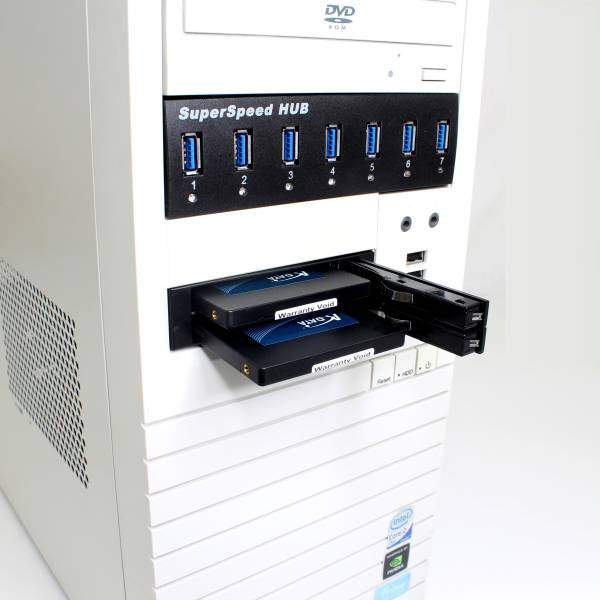 【上海問屋限定販売】デスクトップPC 空きフロッピーベイを有効利用 2.5インチHDD対応 リムーバブルケース 販売開始