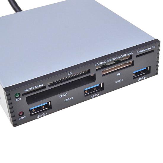 【上海問屋限定販売】デスクトップPCに簡単増設 3.5インチベイ用 USB3.0+カードリーダー 販売開始