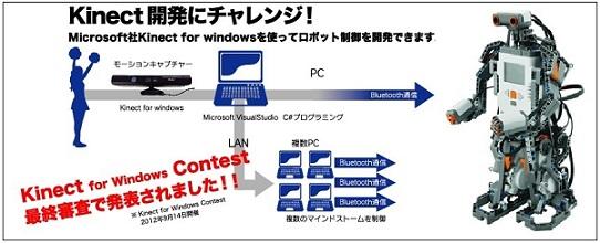 Kinect × 教育用レゴⓇ マインドストームNXT新発売