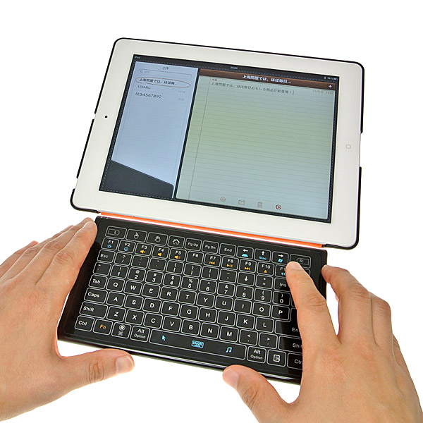 【上海問屋限定販売】圧倒的に使い勝手向上 iPadやタブレット、スマホやAndroid端末で使える Bluetooth接続式キーボード 販売開始