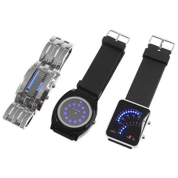 【上海問屋限定販売】 見慣れるまでは見づらい腕時計? 新感覚表示 LED腕時計 販売開始
