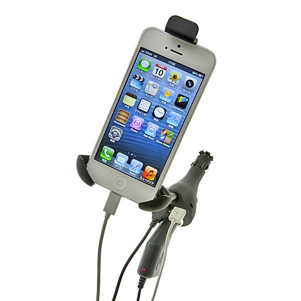 【上海問屋限定販売】 iPhone5も安心 ドライブ中のスマホの電池切れを防止 USBポートつきシガーソケット接続式ホルダー 販売開始