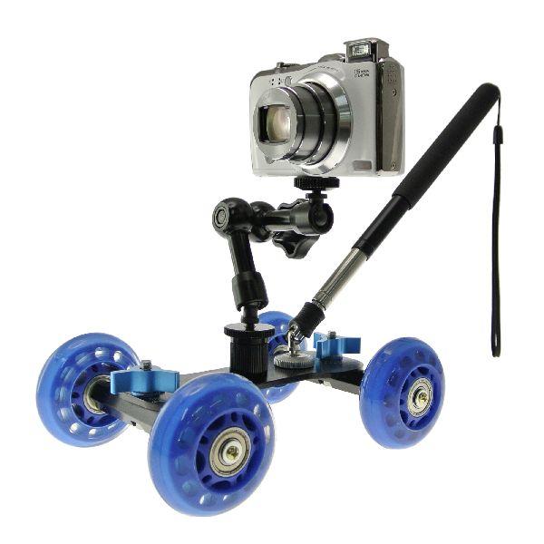 【上海問屋限定販売】 カメラアングルが変わるだけでこんなに新鮮 子供やペットの目線で撮影してみたり使い方いろいろ カメラ用ミニ台車 販売開始