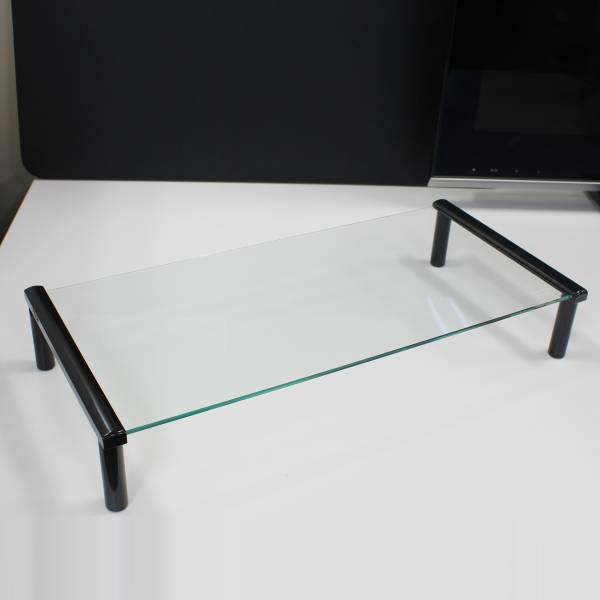 【上海問屋限定販売】 モニターをオシャレに使いやすく デスクスペースを有効活用 ガラス製 液晶モニタースタンド販売開始