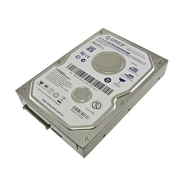 【上海問屋限定販売】 見た目も3.5インチそのもの 2.5インチHDDを3.5インチで使おう SATA接続HDDケース販売開始