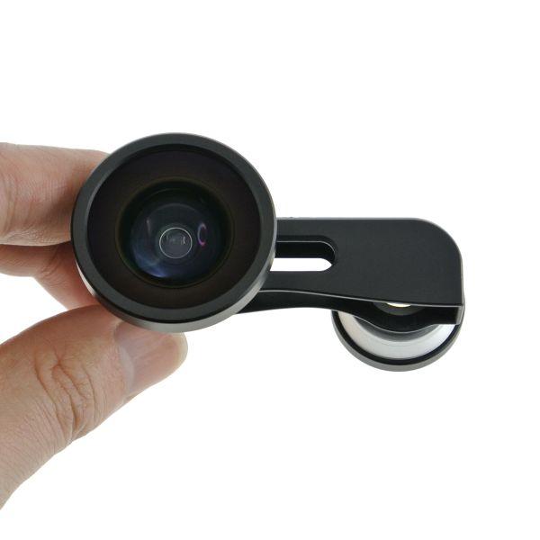 【上海問屋限定販売】 iPhone5で面白写真を撮ろう 魚眼 スーパーワイド マクロ 3in1レンズ 販売開始