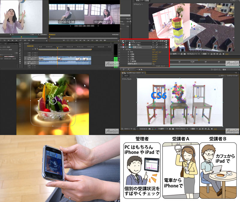 「eラーニング映像クリエイター育成コース」iPhoneやiPad、Android携帯、PCを利用したスキルアップ教育サービス