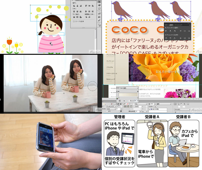 「eラーニングWEBデザイナー コース」iPhoneやiPad、Android携帯、PCを利用したスキルアップ教育サービス