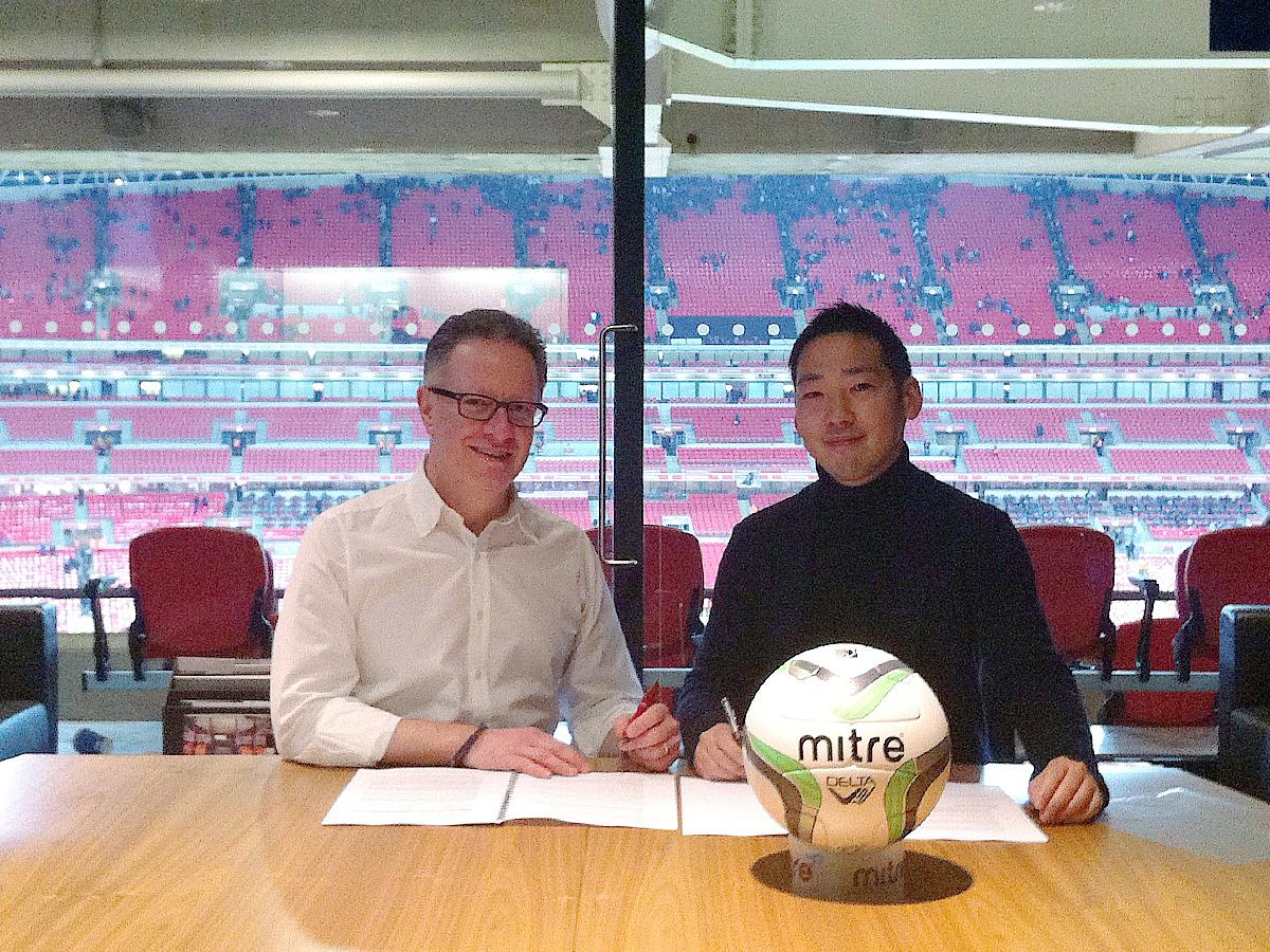 ~株式会社イミオ、英国マイター社との契約締結~ 「MITRE(マイター)」ブランドサッカー用品の日本国内における 独占的製造販売のライセンス取得について