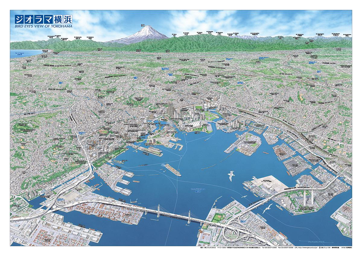 「上空を飛ぶ鳥の視点」から地上を見下ろすように描いた「鳥瞰図」  MAPSHOPにて「パノラマ浅草」「ジオラマ東京」「幕末の江戸」など 『ジェオシリーズ 鳥瞰図』の取扱いを開始!