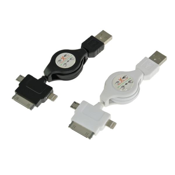 【上海問屋限定販売】 iPhoneもアンドロイドスマホも一緒に充電OK 三種類のコネクタUSBマルチ充電ケーブル 販売開始