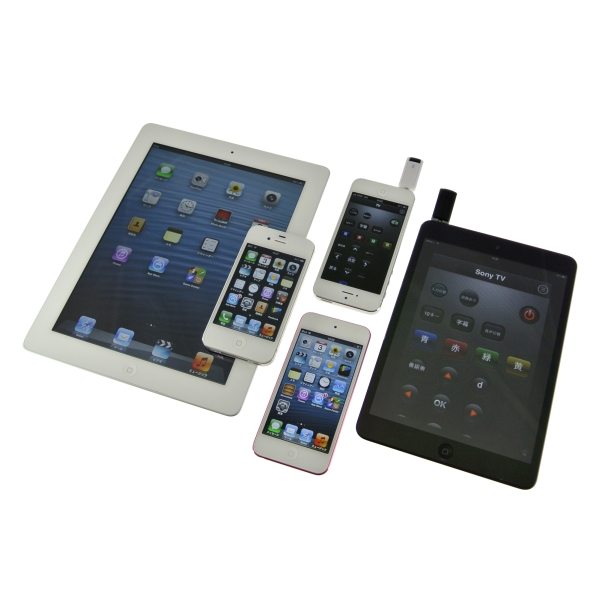 【上海問屋限定販売】iPhoneやiPadを学習リモコンに 画面を華麗にフリックしてテレビを操作 多くのリモコンを一つに集約 赤外線アダプター&アプリ 販売開始