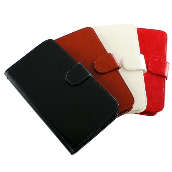 【上海問屋限定販売】 粘着シートで固定するからあらゆるスマホに対応 スマホを手帳のようにカッコよくもつ レザー風手帳型スマホケース 販売開始