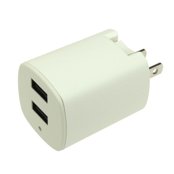 【上海問屋限定販売】 コンセントから直接USB充電が可能 最大出力合計3.1A  USB/AC充電アダプタ販売開始