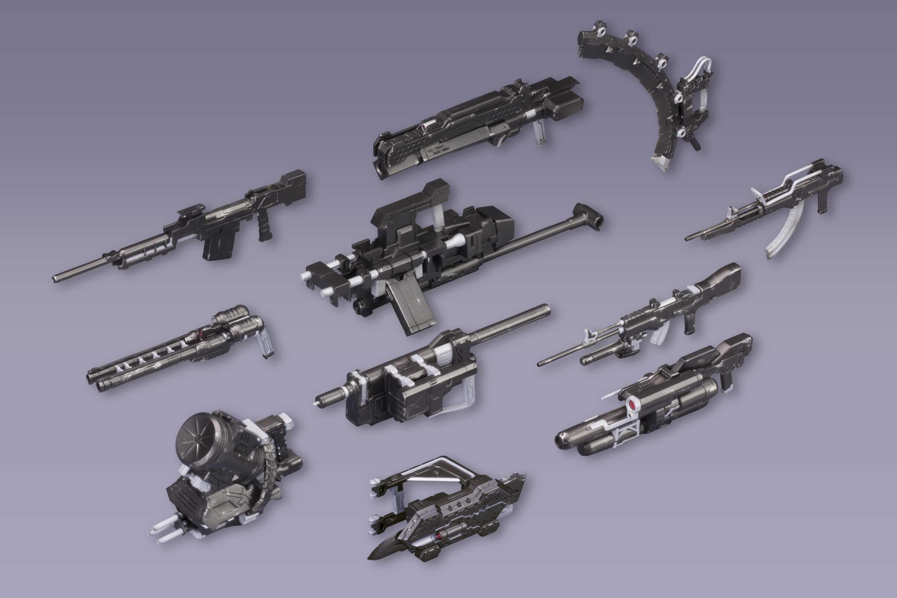 〈アーマード・コアV ヴァリアブル・インフィニティ〉シリーズ対応の武器パーツセット登場 「ACV V.I. ウェポンセット」2015年4月発売