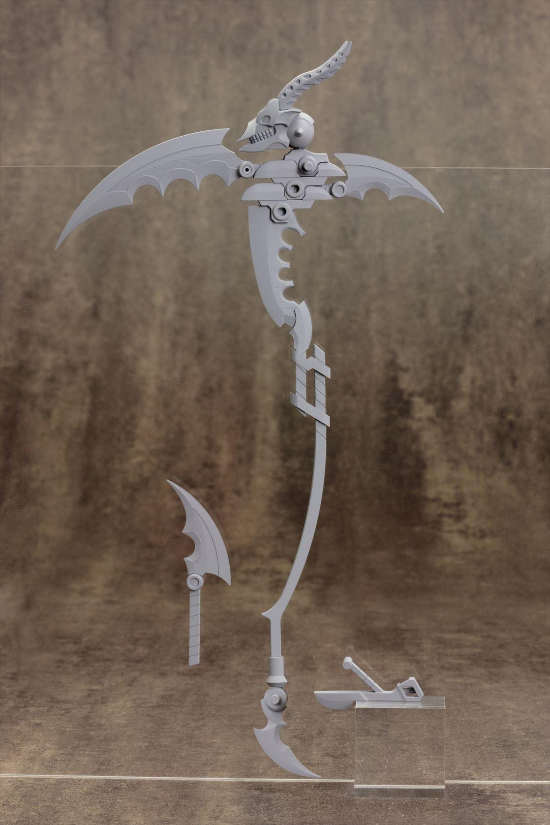 モデリングサポートグッズM.S.G「ヘヴィウェポンユニット」シリーズに ケレン味溢れる大鎌タイプ「スカルマサカー」が登場!