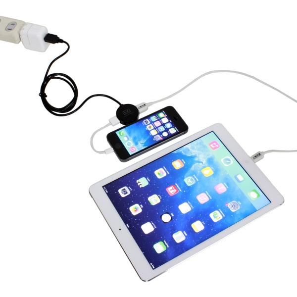 【上海問屋限定販売】接続機器に応じて充電に必要な電力を調整 USB充電を簡単増設 USB充電器用2ポート分配USBケーブル 販売開始