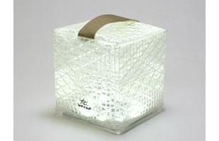 「防災」×「デザイン」×「省エネ」を考えた 折り紙のようにたためるランタン SolarPuff(ソーラーパフ) 涼しげな白色LED タイプ新発売 ‼