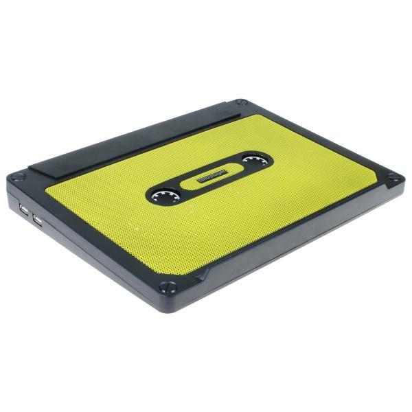 【上海問屋限定販売】 デザインにこだわったノートPCクーラー2種 熱からノートPCを護ろう カセットテープ型 アクリルスケルトンタイプ 販売開始