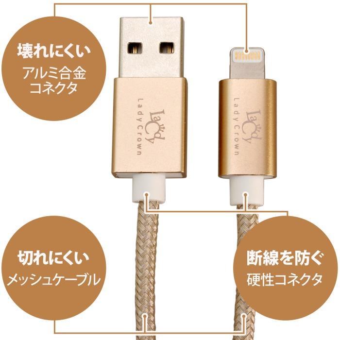 【上海問屋限定販売】 断線しにくいLightningケーブル Mfi認証だから安心 Mfi認証 Lightningメッシュケーブル 販売開始