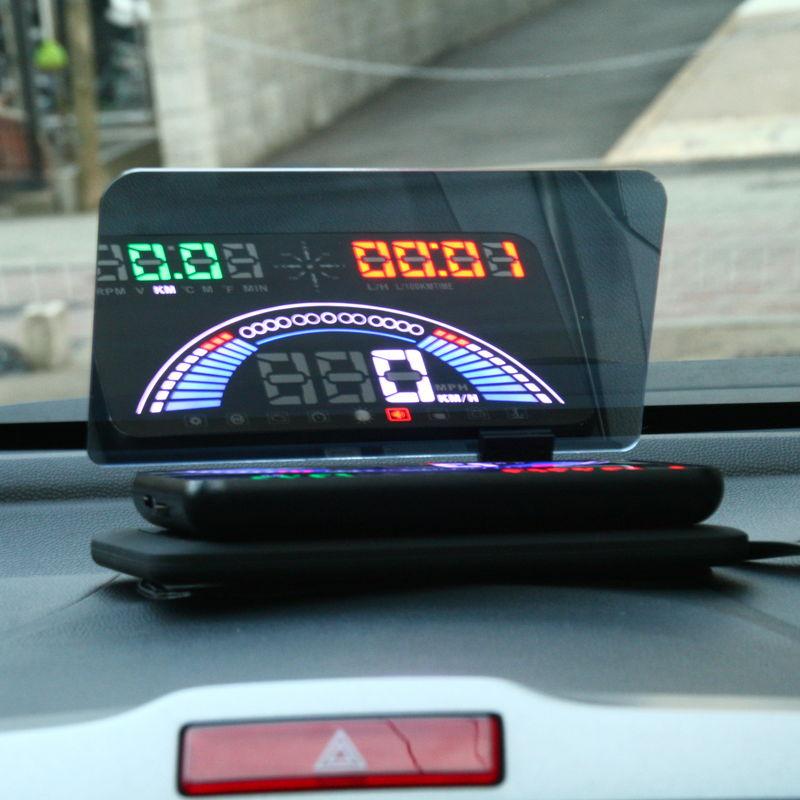 【上海問屋限定販売】 フロントガラスにスピードメーター表示で視認性向上 簡単設置で安全走行 OBD2&GPS対応ヘッドアップディスプレイ(HUD) 販売開始