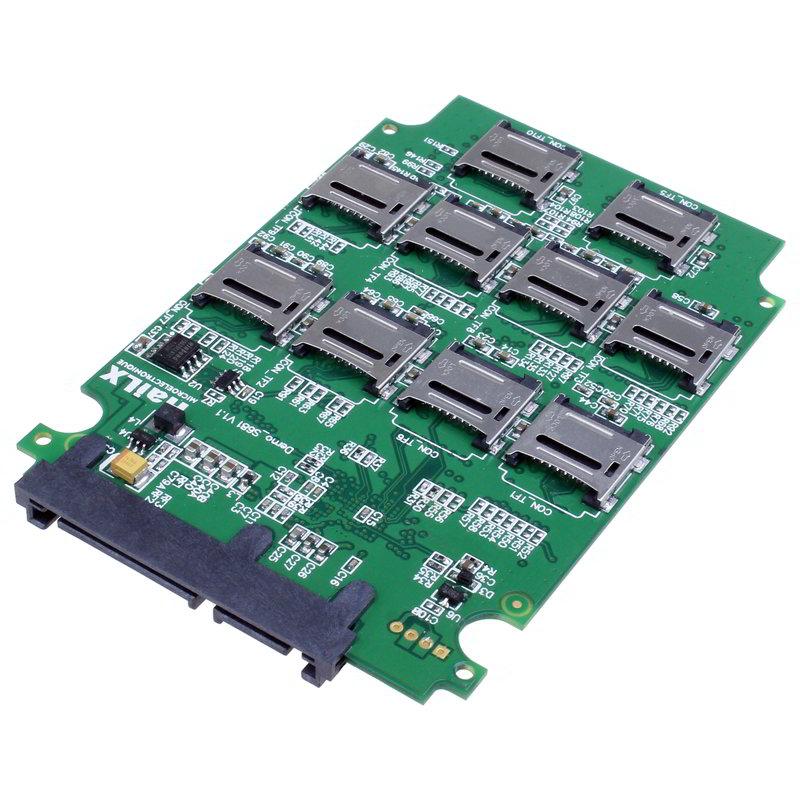 【上海問屋限定販売】 余ったmicroSDカードを一つのドライブとして使える 10枚までのmicroSDカードをSATAドライブにできる 変換アダプター 発売開始