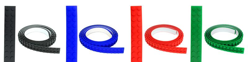 【上海問屋限定販売】 あらゆる場所をブロックでデコる アイディア次第で楽しみ方は無限大 おもちゃのブロックをどこでも連結できるテープ(1m) 販売開始