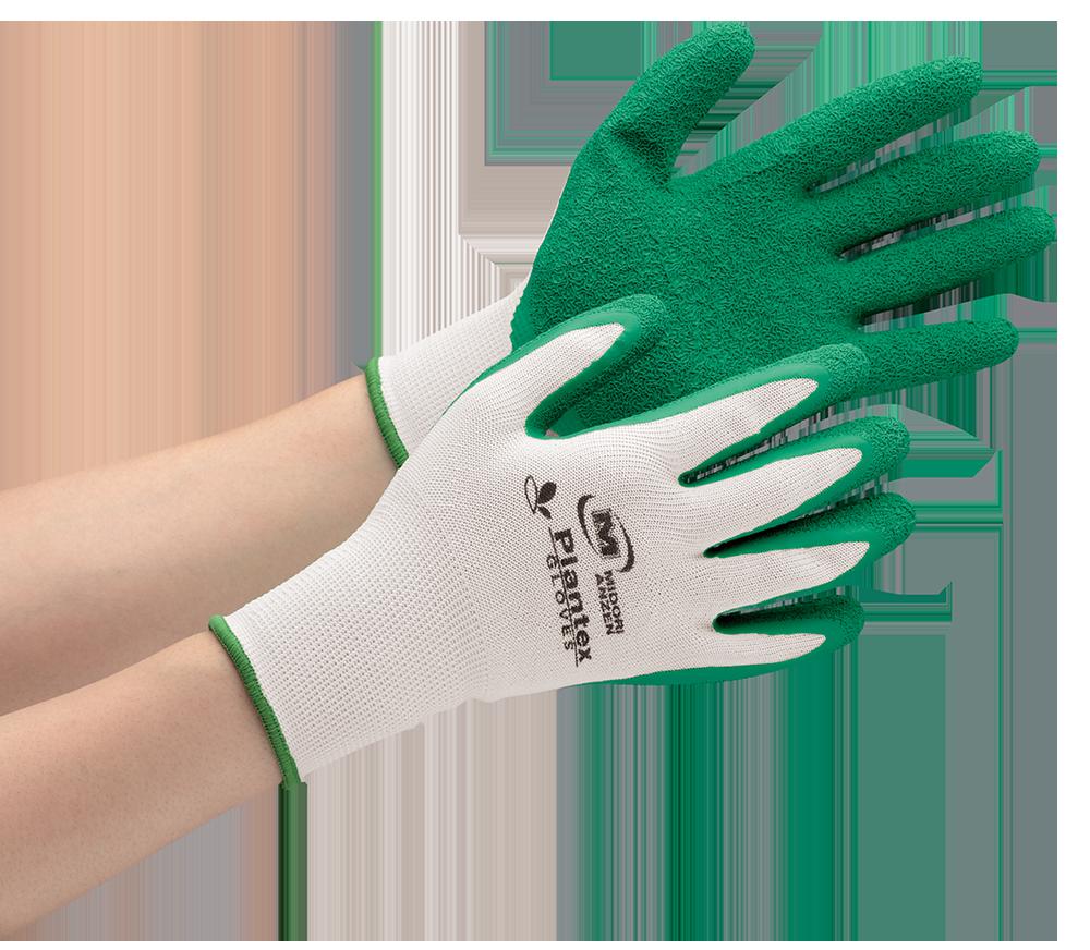 グリーン購入法に適合した作業手袋「プランテックスグローブ」シリーズに、 物流作業向け<天然ゴム背抜き>タイプが9月より新登場!<br />~植物由来原料の炭素循環で温暖化対策に貢献~