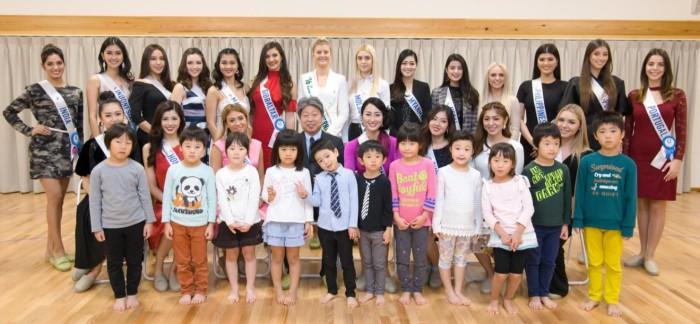 ~ 女性の活躍と国際平和貢献活動を応援 ~ ミス・インターナショナル候補者20名を招き、 日本最大の保育所「ベリーベアー深川冬木」で園児らと交流会を実施 ~ 園児らのウェルカムダンスなどで候補者にエールを送りました ~