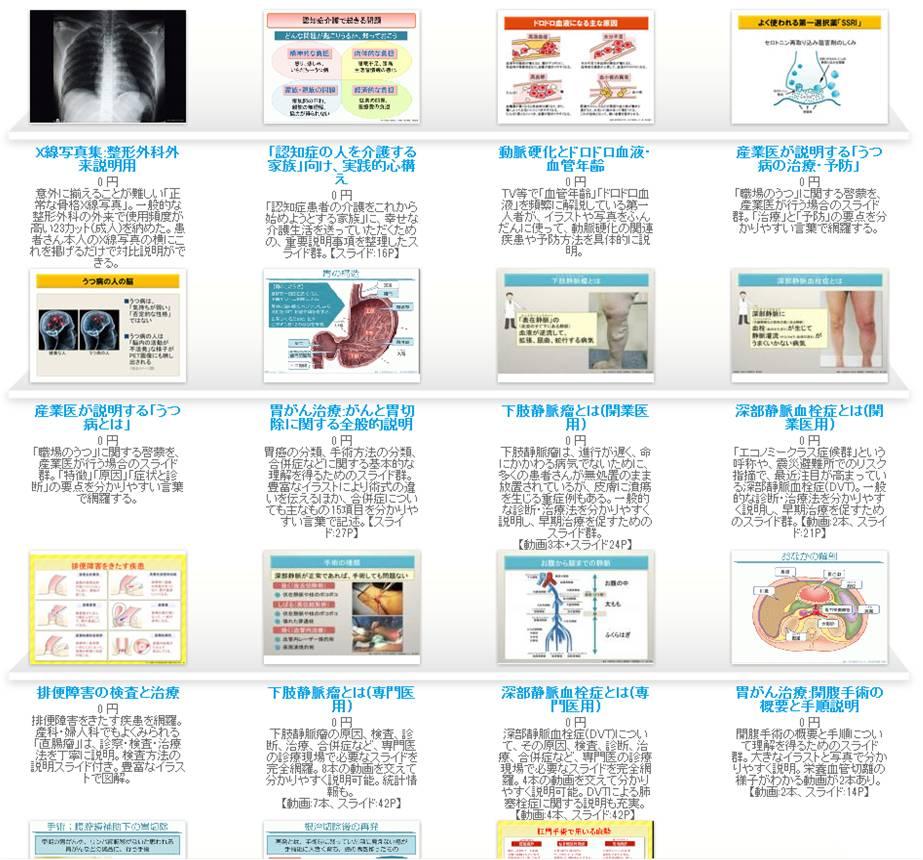 医師向けiPadアプリ(3.7万DL実績)を利用し、本格的な患者説明スライド無料「ライブラリ」を開始~医療現場の悩み「時間不足の医師」「もっと説明を受けたい患者」を解消~