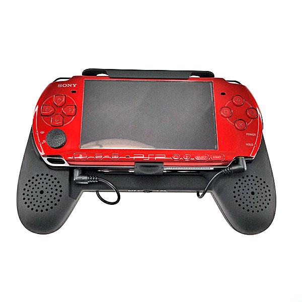 【上海問屋限定販売】 上海道場認定商品 PSP専用 音響も操作性も格段に向上 PSP用 ハンドグリップ型スピーカー販売開始