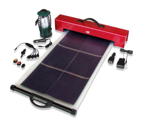 緊急災害用携帯用太陽光発電機「どこでも発電」GSR-111B の販売を開始します。