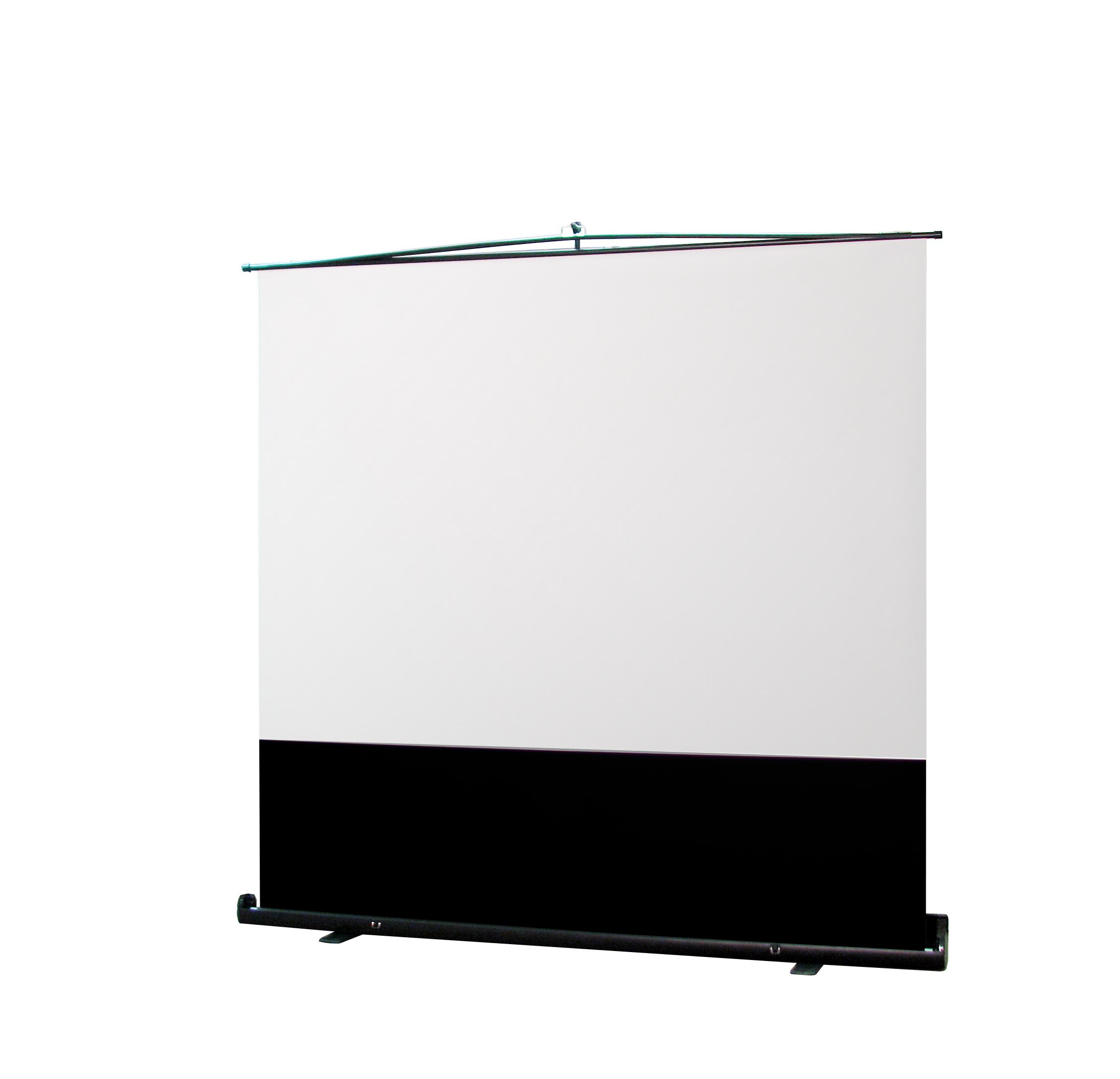 フロアスタンドスクリーン/MS にアスペクトフリー/FN 登場。スクリーンの投写面積を拡大、WXGA で106 型まで投写可能。