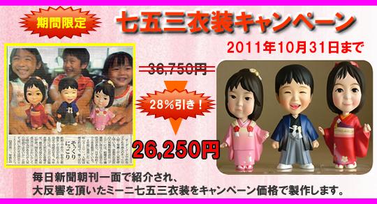 タレント・一般顧客へのそっくり人形製作のパイオニア 工房空良が七五三衣装製作キャンペーンを開始 『京都工房で職人手作りのそっくり人形 ミーニ 七五三衣装』を期間限定キャンペーン価格で販売