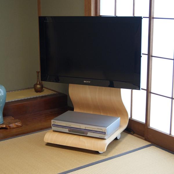 【上海問屋限定販売】 北欧風の曲げ木の曲線が美しい 和室にも洋間にもマッチする液晶テレビスタンド販売開始
