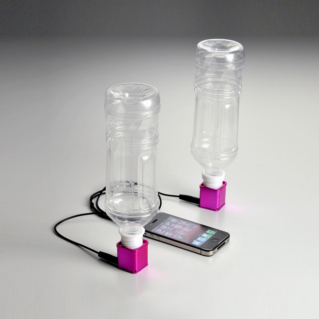スマートフォンやiPhoneの音楽をどこでもステレオサウンドで楽しめる! 「ペットボトルスピーカーSTEREO」発売開始!
