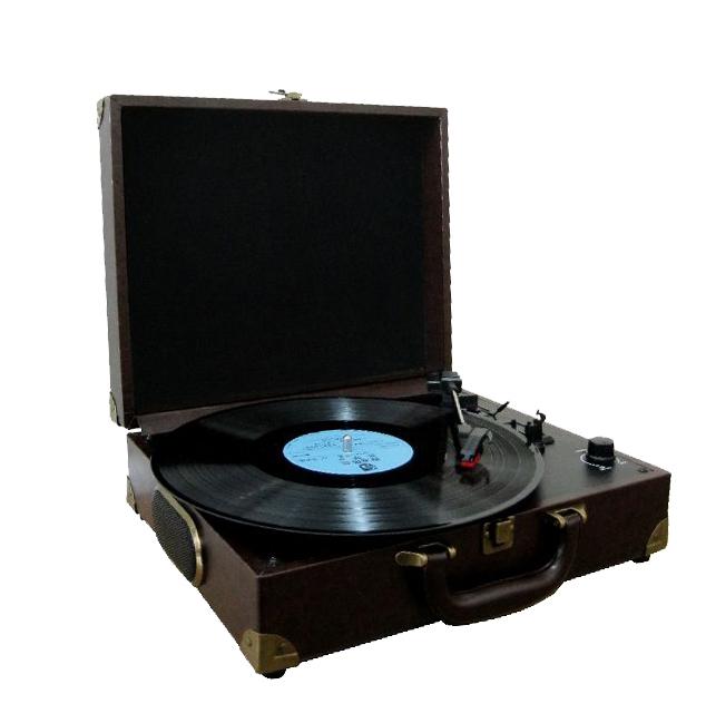 【上海問屋限定販売】レトロデザインのターンテーブルで想い出のレコードを聴こう USB 接続でパソコンへのデータ転送も可能 トランク型ステレオレコードプレーヤー販売開始