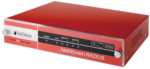 """ECO仕様、CPの高い「オールインワン認証アプライアンス」、 """"赤いNetWyvernRADIUS""""がより高機能となり再登場!  ~スマートフォン/タブレット端末利用に最適なコンパクトRADIUS認証サーバと して、管理情報機能、証明書発行機能、死活監視・メール通知機能等を強化した 最新のファームウェアでお届けします~"""