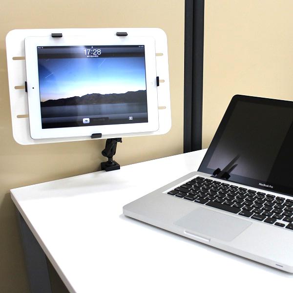 【上海問屋限定販売】 テーブルの上でタブレットを好きな位置に固定する iPad iPad2タブレット対応 テーブルマウントアーム2種販売開始